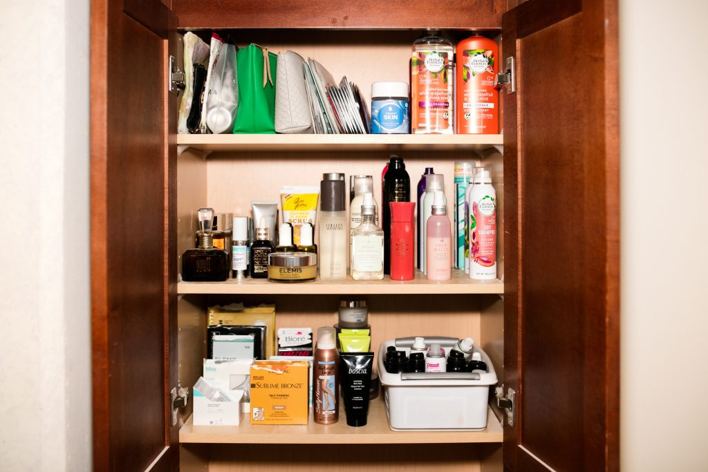 How to organize clean out your beauty closet kerrently for How to clean and organize your closet